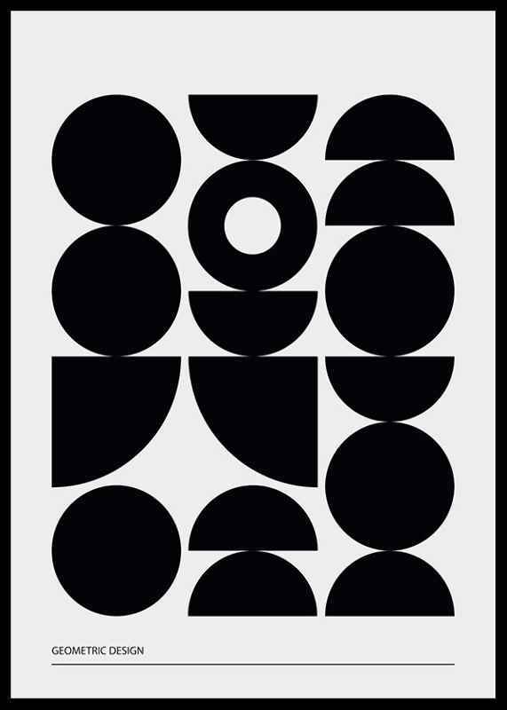 Geometric Graphic Black No1-2