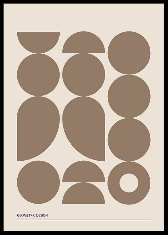 Geometric Graphic Beige No1-2