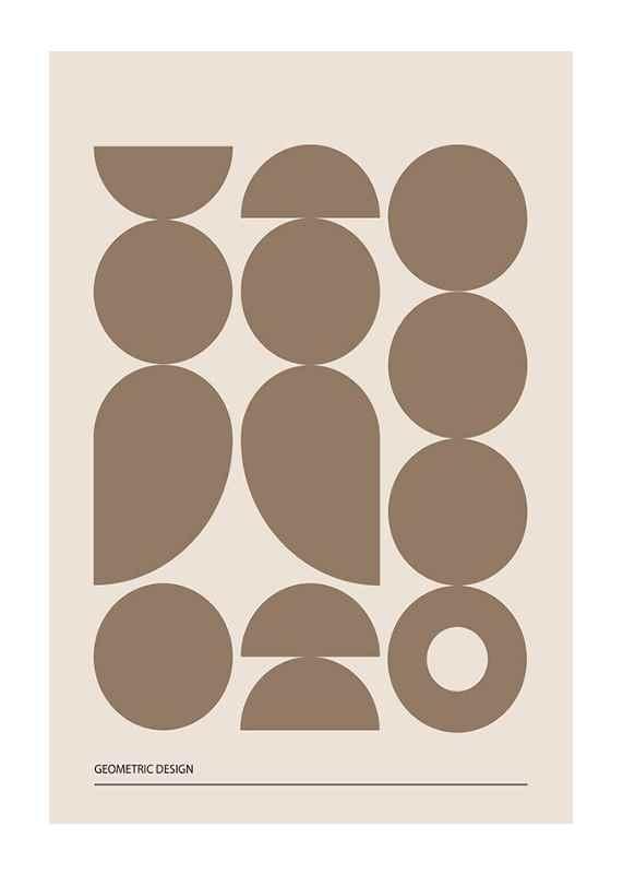 Geometric Graphic Beige No1-1