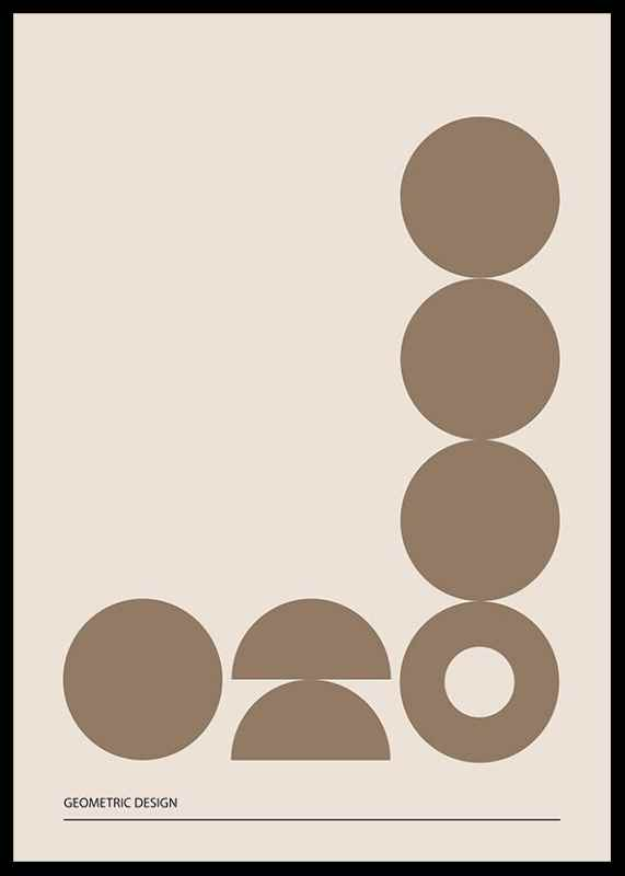 Geometric Graphic Beige No2-2