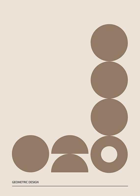 Geometric Graphic Beige No2-3
