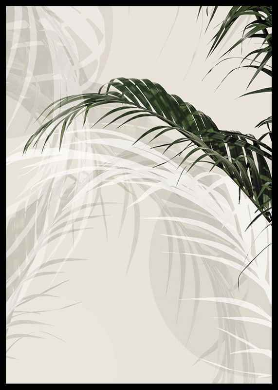 Abstract Palm Leaves No1-2