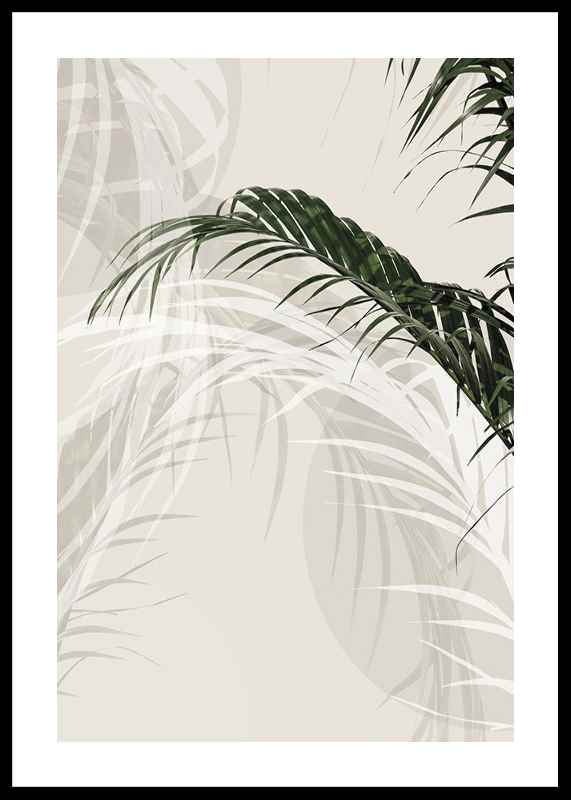 Abstract Palm Leaves No1