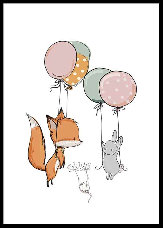 Animals And Balloons No1