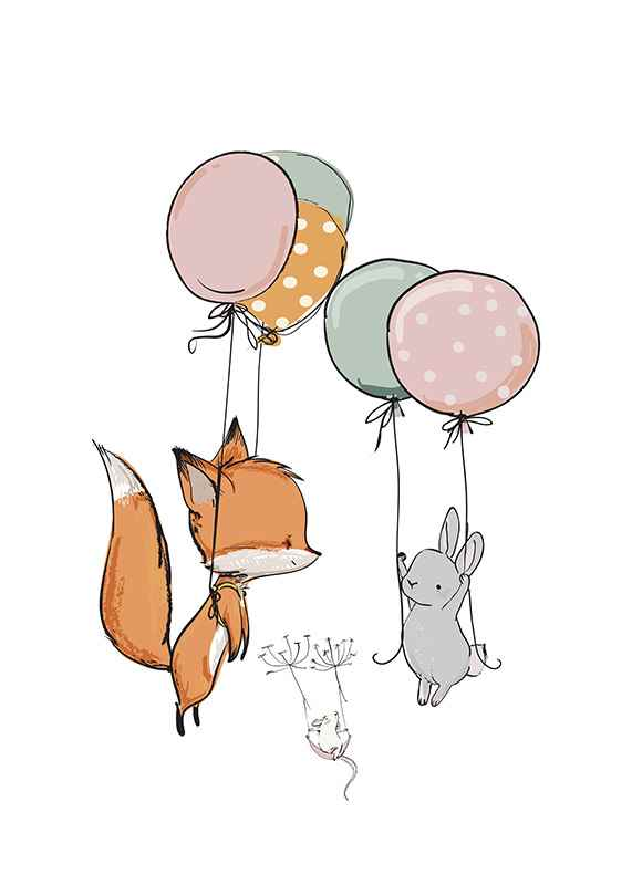 Animals And Balloons No1-1