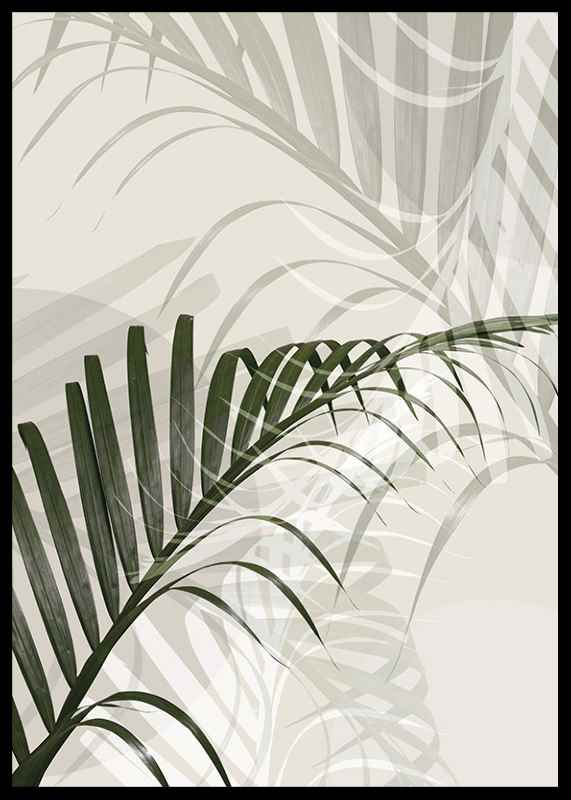 Abstract Palm Leaves No2-2