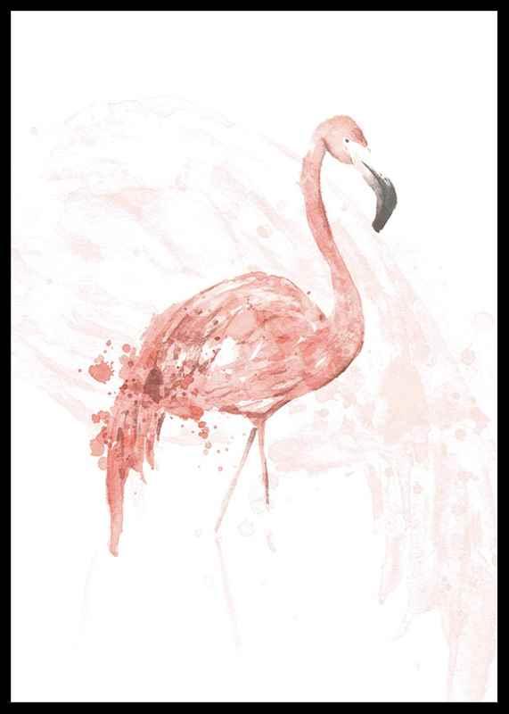 Watercolor Flamingo-2