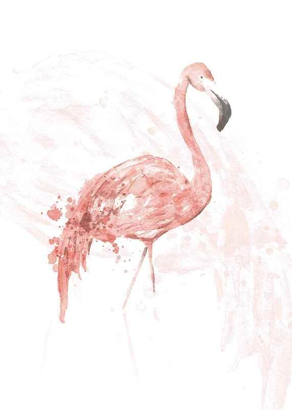 Watercolor Flamingo-3