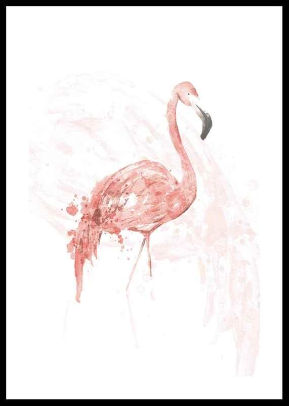 Watercolor Flamingo-0