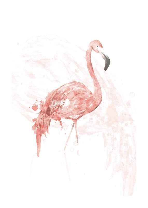 Watercolor Flamingo-1
