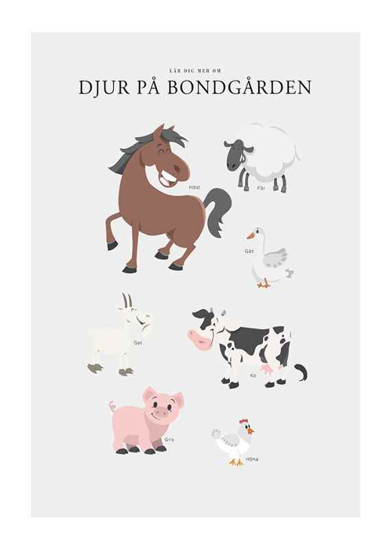 Djur På Bondgården-1