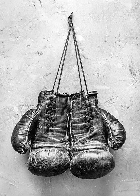 Worn Boxing Gloves-3