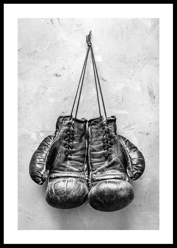 Worn Boxing Gloves