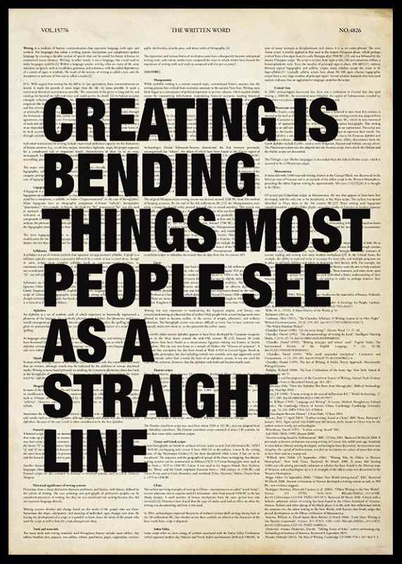 Creating Is Bending