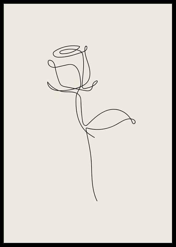 Line Art Rose-2