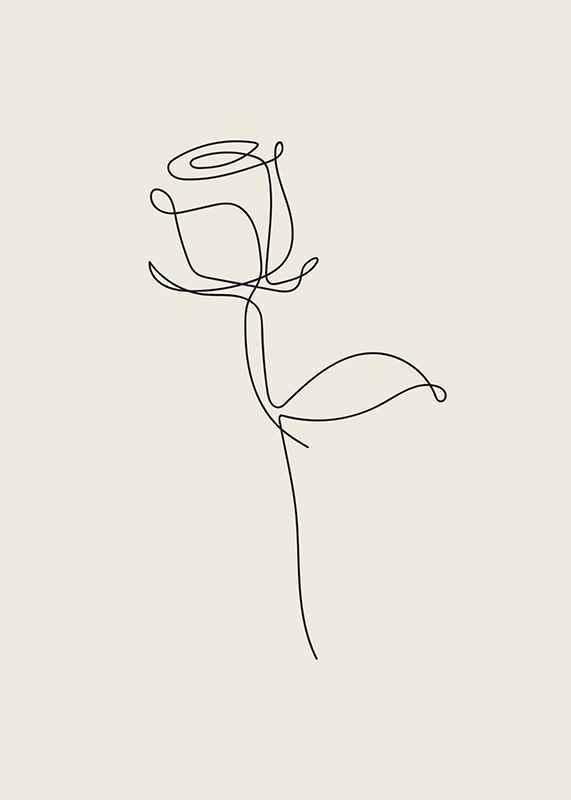 Line Art Rose-3