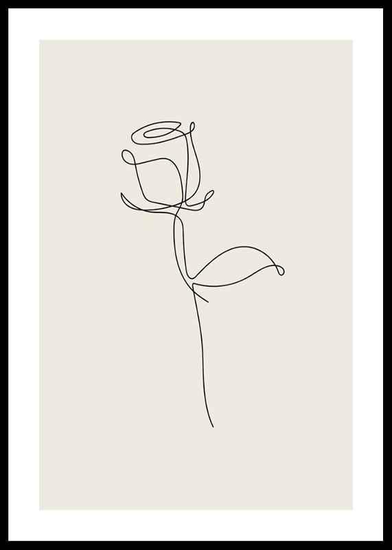 Line Art Rose-0