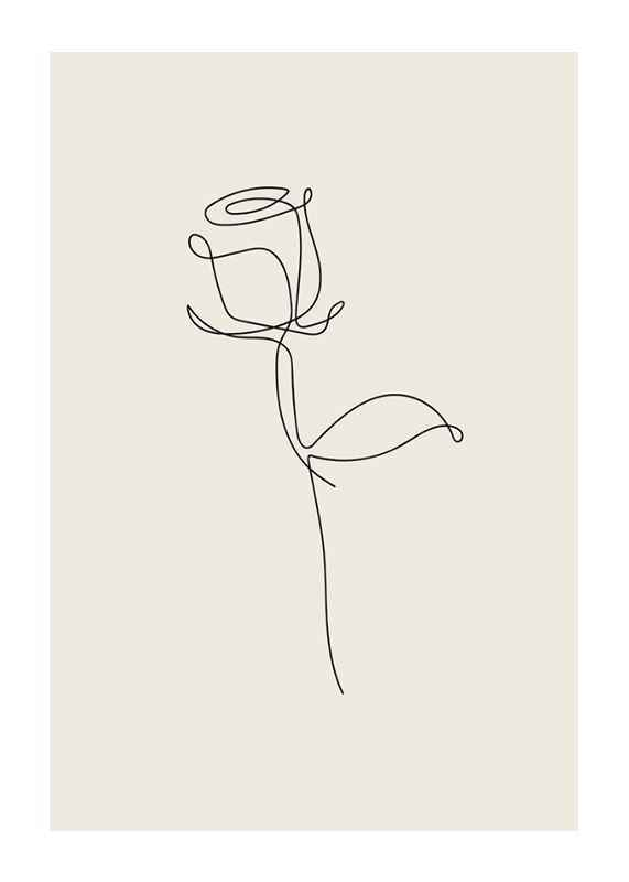 Line Art Rose-1