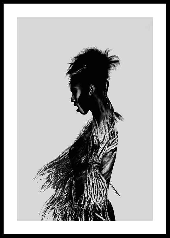 Black Woman Paint-0