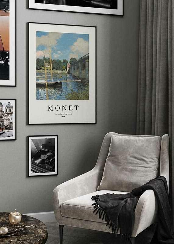 Monet Bridge At Argenteuil-2