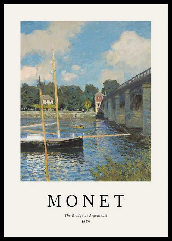Monet Bridge At Argenteuil-0