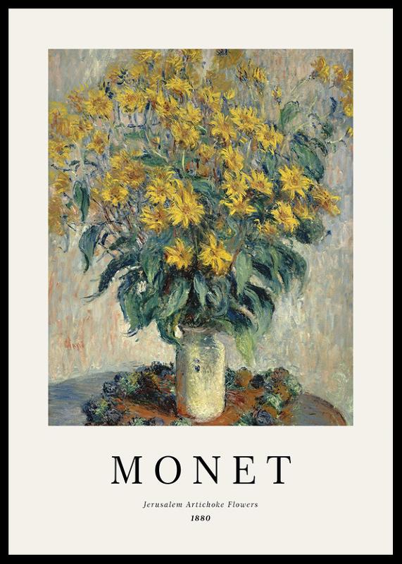 Monet Jerusalem Artichoke Flowers