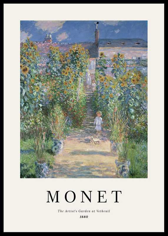 Monet Garden At Vetheuil