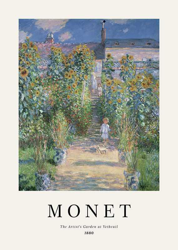Monet Garden At Vetheuil-1