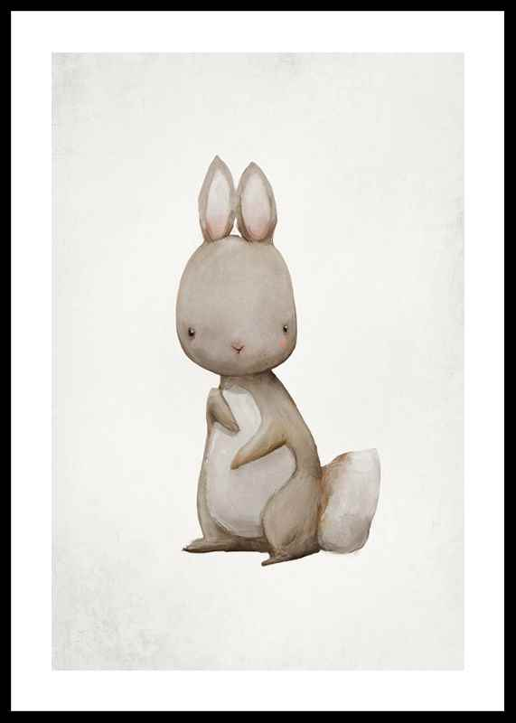 Watercolor Hare-0