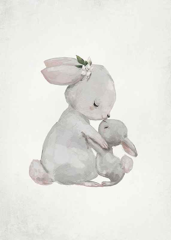 Watercolor Rabbits-3