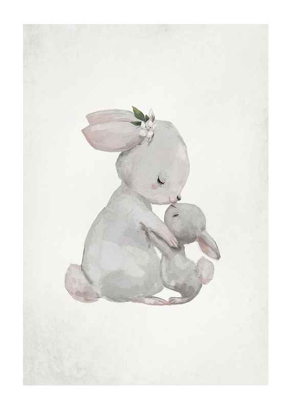 Watercolor Rabbits-1