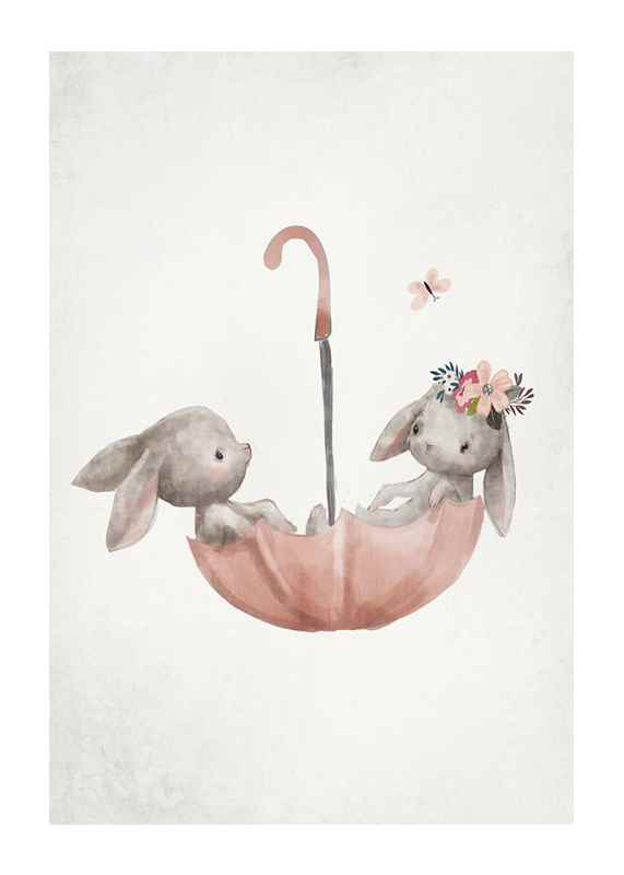 Watercolor Rabbit Friends-1