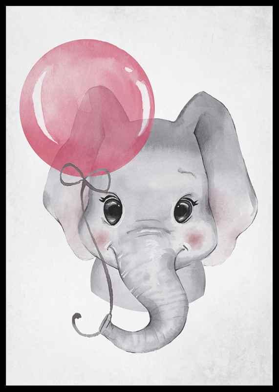 Elephant Pink Balloon-2