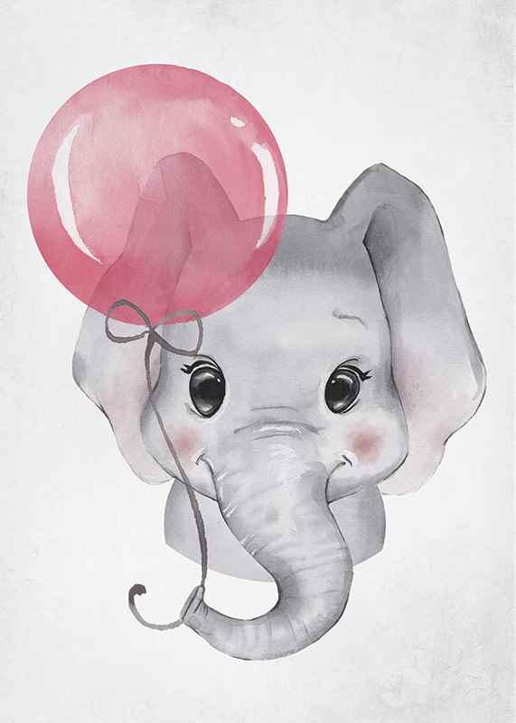 Elephant Pink Balloon-3