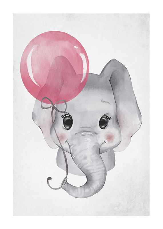Elephant Pink Balloon-1