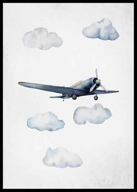 Watercolor Airplane-2