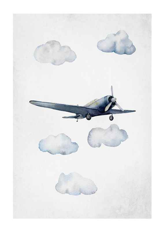 Watercolor Airplane-1