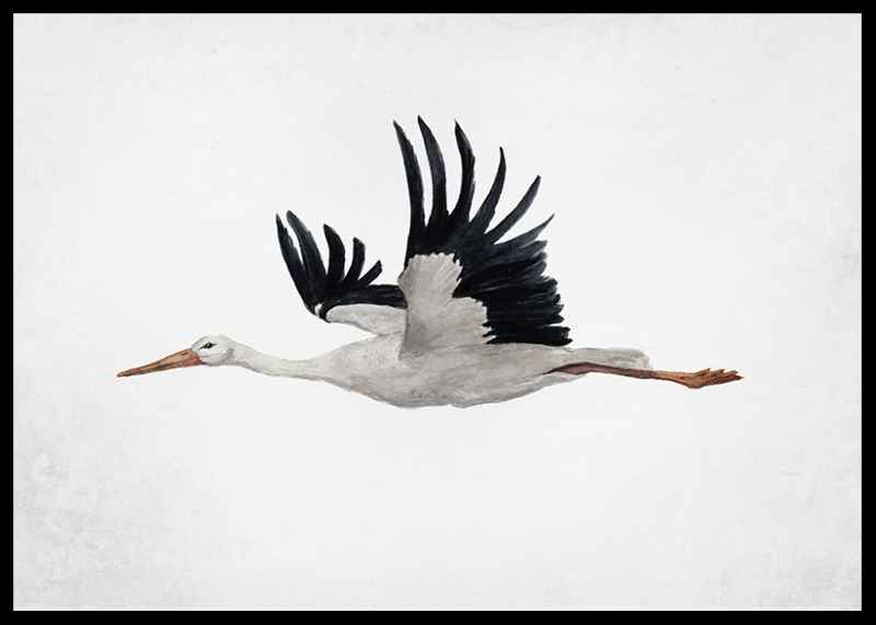 Watercolor Stork-2