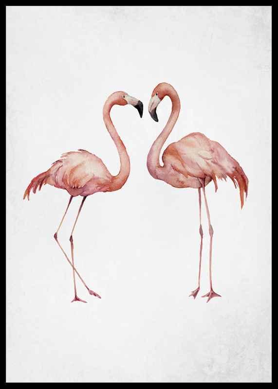 Watercolor Flamingos-2