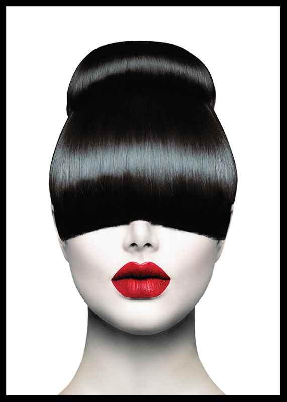 Red Lips Hair Cut