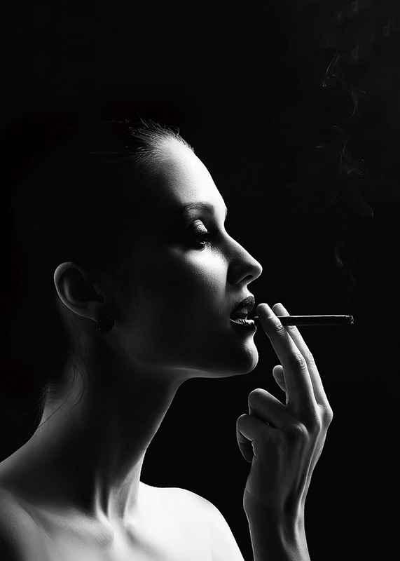 Smoking Woman-3