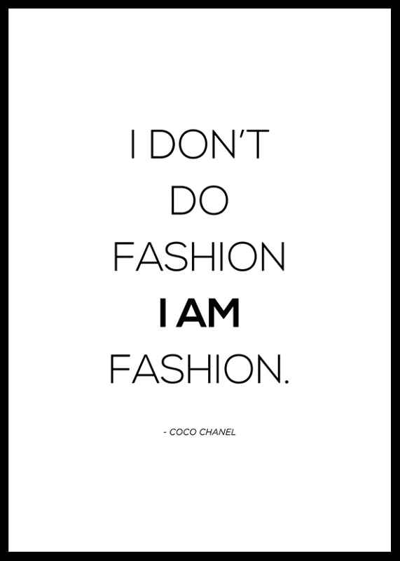 Chanel I Am Fashion