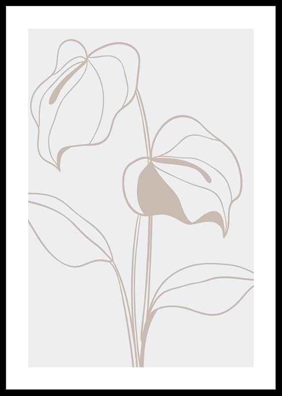 Line Art Flower No2-0