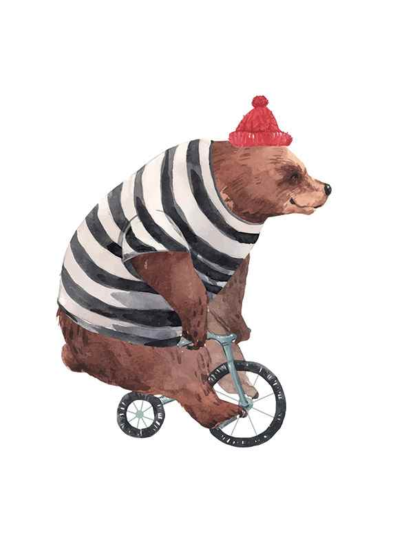 Bear On Bike-1
