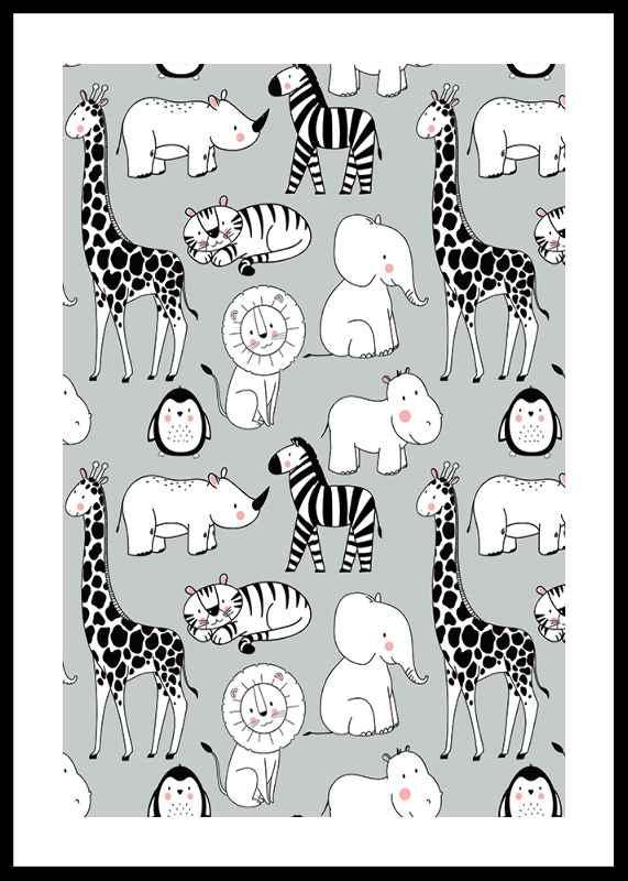 Wild Animals B&W-0
