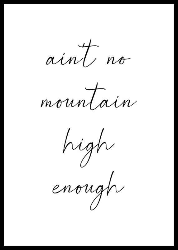 No Mountain High