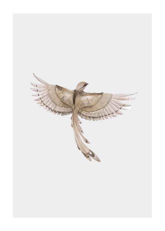 Watercolor Jay Bird-1