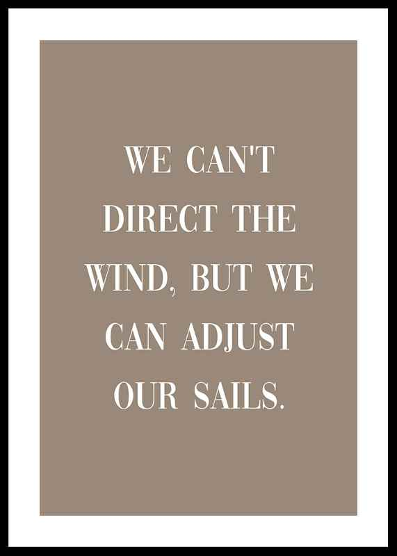Adjust Our Sails