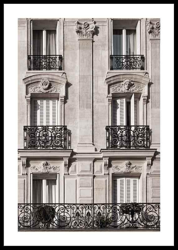 Parisian Building Facade-0