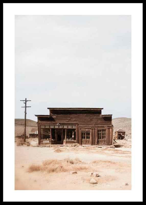 Wooden House In Desert-0